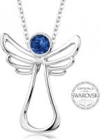 neck jewelry Levien Guardian Angel Dark Blue Crystal Necklace Neck jewelry