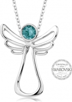 neck jewelry Levien Guardian Angel Turquoise Crystal Necklace Neck jewelry