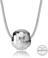 Kaklo papuošalas Levien Steel necklace letter E CLET-E Kaklo papuošalai