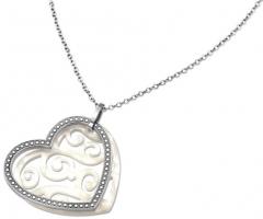 Kaklo papuošalas Lotus Style Heart-shaped steel necklace LS1591-1 / 1
