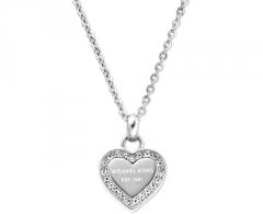 Kaklo papuošalas Michael Kors Jemný náhrdelník z oceli s přívěskem srdce MKJ3970040