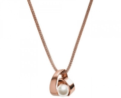 Kaklo papuošalas Skagen Dámský ocelový náhrdelník s perlou SKJ0680791