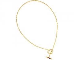 Kaklo papuošalas Tommy Hilfiger Zlatý náhrdelník se srdcem TH2700637