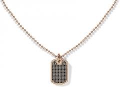 neck jewelry Tommy Hilfiger Náhrdelník Psí známka s černými krystaly TH2700751 Neck jewelry