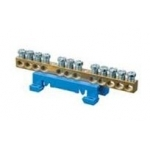 Kaladėlė įžeminimo, 20x10mm + 4x16mm, mėlyna, modulinė, 870 /24, Z LZ24 m Kabelių jungtys