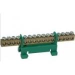 Kaladėlė įžeminimo, 20x10mm + 4x16mm, žalia, modulinė, 870 /24, Z LZ24 z