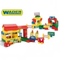 Kaladėlės 137 vnt. | Petrol station | Wader 41272 Kaladėlės ir statybos žaislai
