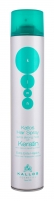 Kallos Hair Spray Extra Strong Hold With Keratin Cosmetic 750ml Hair styling tools