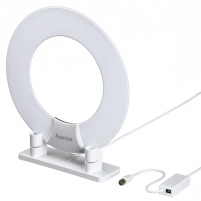 Kambarinė antena HAMA DVB-T/DVB-T2 Indoor Antenna Ring Tv antenna