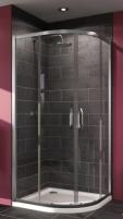 Kampas dušo Huppe X1 90x90cm, sidabras/persišviečiantis stiklas