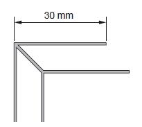 KAMPAS ISORINIS BALTAS B1 2,7m VNT Facade planks fittings (pvc, fiberboard, wood)