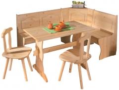 Kampinis valgomojo komplektas Tirol Virtuves stūri no koka