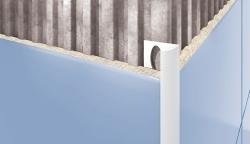 Kantelis plytelėms išornis 7MM/2.5M BALTAS-101 Tile finishing profiles (aluminium, pvc)