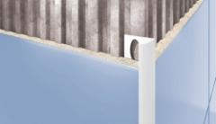 Kantelis plytelėms išornis 7MM/2.5M RUDAS-110 Flīžu apdares profili (alumīnija, pvc)