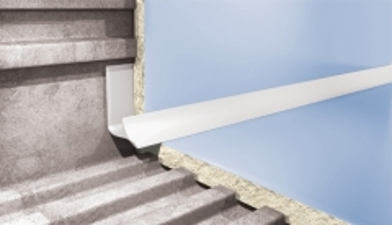Kantelis plytelėms vidinis 7MM/2.5M BALTAS-101 Plytelių apdailos profiliai (aliuminiai, PVC)