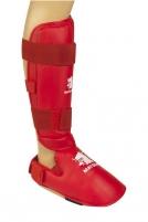 Karate apsaugos blauzdai ir pėdai XL red