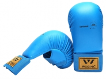 Karate pirštinės WKF L mėlyna Karatė - dziudo