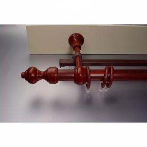 Karnizas Standart 3 m skersmuo 28 mm raudonmedžio spalvos