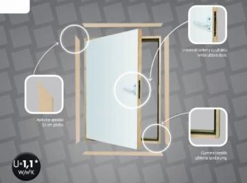 Karnizinės durys DWK 55x80 cm. Karnizinės durys