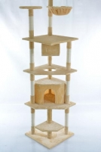 Katės namas - draskyklė CAT093, smėlinės spalvos Žaislai katėms