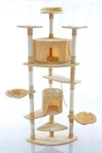 Katės namas - draskyklė FD670, smėlinės spalvos Žaislai katėms