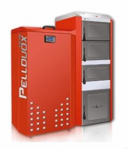Katilas granulinis PELLDUOX 25 KW (bunkerio talpa 200 ltr.) Kieto kuro granuliniai katilai