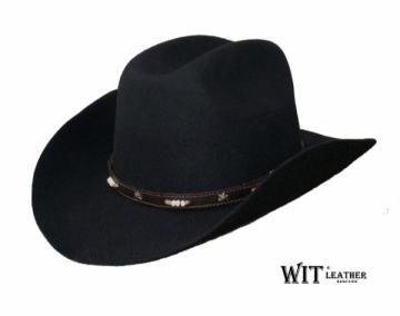 Kaubojiška skrybėlė Cowboy Hat, juoda Galvos apdangalai