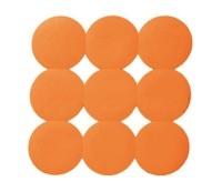 Kaučiukinis dušo kilimėlis, 54,5x54,5 cm, oranžinis