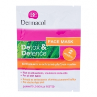 Mask Dermacol Detox&Defence Face Mask Cosmetic 16g Masks and serum for the face