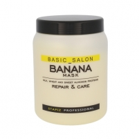 Kaukė plaukams Stapiz Basic Salon Banana Mask Cosmetic 1000ml