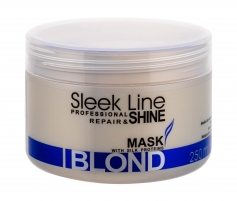 Kaukė plaukams Stapiz Sleek Line Blond Mask Cosmetic 250ml Matu maskas