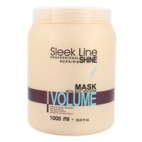 Kaukė plaukams Stapiz Sleek Line Volume Mask Cosmetic 1000ml