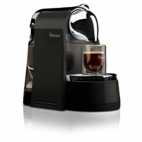 Belmoca B-100, Capacity 1L/ Up to 25 cups of espresso/ Crome-plated spout/Black Coffee maker