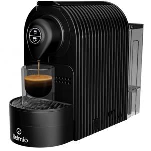 Kavos aparatas Belmoca Espresso Machine Belmio Bravissima Pump pressure 19 bar, Coffee maker type Capsule, 1400 W, Onyx Black