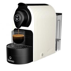 Kavos aparatas Belmoca Espresso Machine Belmio Bravissima Pump pressure 19 bar, Coffee maker type Capsule, 1400 W, White