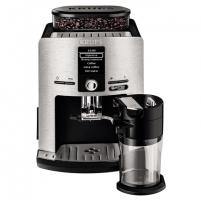 Kavos aparatas Krups Coffee maker EA82FE Pump pressure 15 bar, Built-in milk frother, Fully automatic, 1450 W, Silver/ black Kafijas automāts