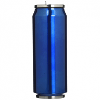 Kelioninė gertuvė Yoko Design Isotherm tin can, Shiny Blue, Capacity 0.5 L, Diameter 6.9 cm, 500 ml Tourist vessels