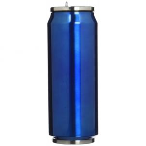 Kelioninė gertuvė Yoko Design Isotherm tin can, Shiny Blue, Capacity 0.5 L, Diameter 6.9 cm, 500 ml Tūristu kuģiem