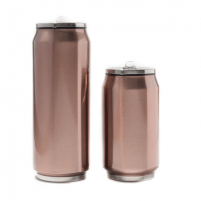 Kelioninė gertuvė Yoko Design Isotherm tin can, Shiny Brown, Capacity 0.5 L, Diameter 6.9 cm, 500 ml
