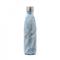 Kelioninė gertuvė Yoko Design Isothermal Bottle Marble blue, Capacity 0.5 L, Diameter 6.5 cm, Dishwasher proof Tourist vessels