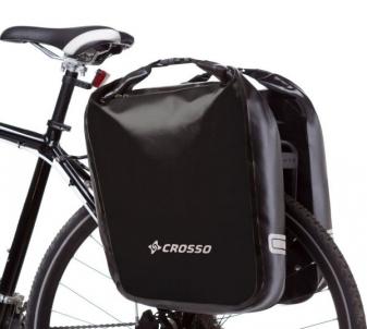 Kelioniniai krepšiai galiniai Crosso DRY BIG 60l black (pora) / Velosipēdu piederumi