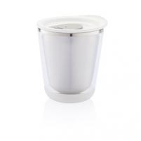 Kelioninis puodelis Dia, baltas Hermetiniai indeliai