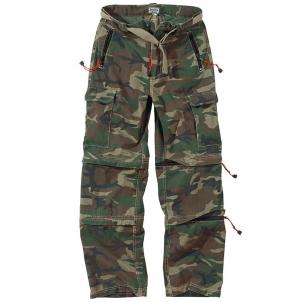 Kelnės Spodnie trekking trousers Surplus woodland