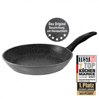 Keptuvė Stoneline Pan 6843 Frying, Diameter 26 cm, Suitable for induction hob, Fixed handle, Anthracite
