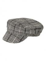 Kepurė Pieces Women´s cap PCHAVANNA BAKER BOY HAT BOX Black Checks Hat