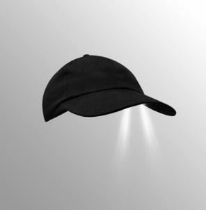 Kepurė Torch su LED juoda Galvos apdangalai