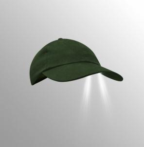 Kepurė Torch su LED olive