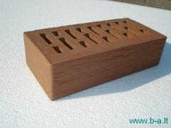Perforated facing bricks 'Vecais Rudis' 11.212100L