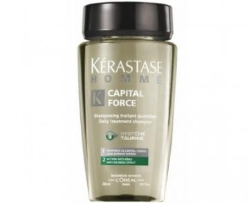 Kérastase Shampoo for oily hair for men Homme Capital Force (Daily Treatment Shampoo Anti-Oiliness Effect) - 250 ml Šampūnai plaukams
