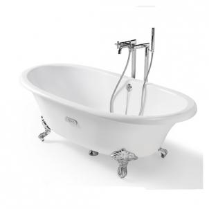 Ketinė vonia Newcast 170x85 balta su kojomis